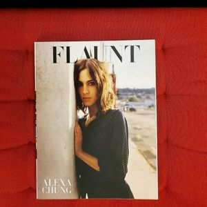 FLAUNT magazine fashion art alexa chung cover 2015